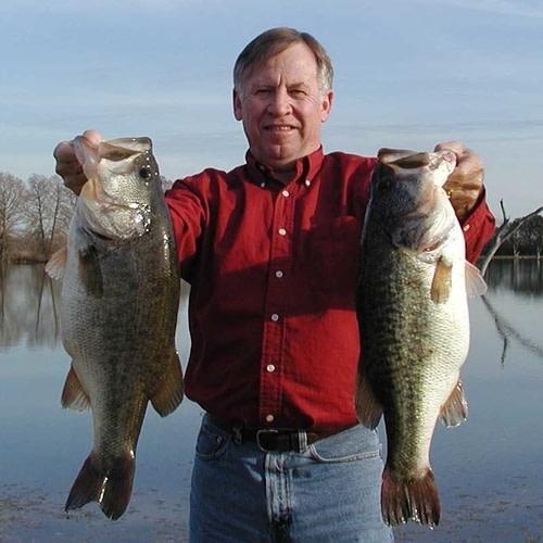 Kenny Zwahr Holding Trophy Largemouth Bass